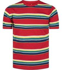 camiseta basic fit de rayas para hombre 04213