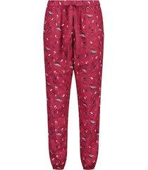 hunkemöller petite rutiga pyjamasbyxor twill grå