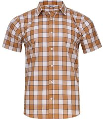 camisa a cuadros sin bolsillo