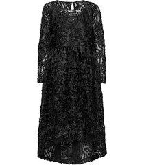 slfcynthia ls midi dress b knälång klänning svart selected femme