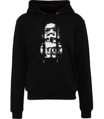 'star wars' stormtrooper print hoodie