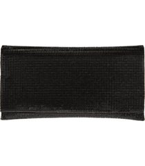 nordstrom mini crystal flap clutch - black
