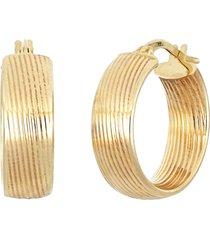 women's bony levy 14k texture wide hoop earrings (nordstrom exclusive)