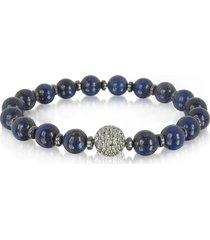 blackbourne designer men's bracelets, lapis lazuli small stone men's bracelet w/brass golf ball