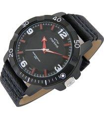 reloj negro montreal aro giratorio