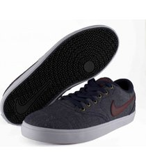 tenis negro nike sb check solar canvas obsdiam team