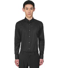 antony morato shirt l/s black with dot print