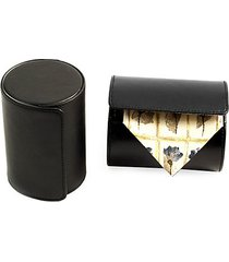 cylindrical leather travel tie case