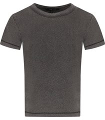 mouty paris anthracite grey boy t-shirt with circles