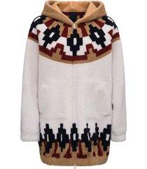 blancha reversible wool coat with norwegian inlay