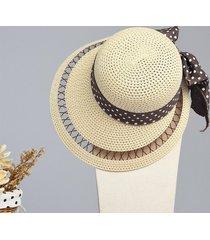 lyza donne estate hollow wide brim beach cappello sole casual visita panama cappello di paglia