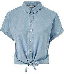 jeansskjorta onlmilen ss knot dnm shirt