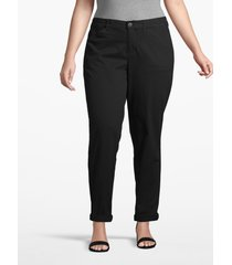 lane bryant women's boyfriend chino 28 black