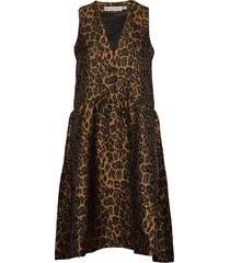 mounaiw dress knälång klänning brun inwear