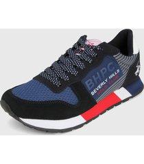 tenis azul navy-rojo-negro beverly hills polo club