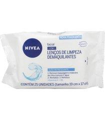 lenços nivea de limpeza facial incolor