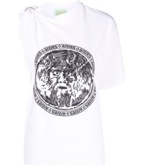 aries toga one-shoulder t-shirt - white