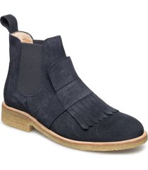 booties - flat - with elastic shoes boots chelsea boots ankle boot - flat blå angulus
