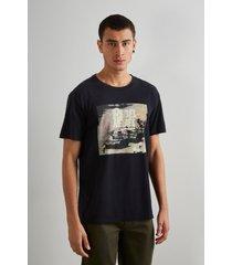 camiseta estampada rebel reserva preto - preto - masculino - dafiti