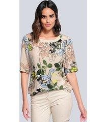 blouse alba moda zand::lichtblauw