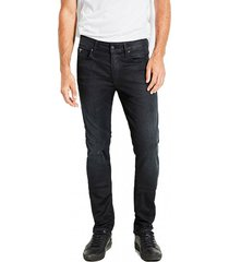 jeans slim tapered negro guess