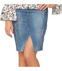 falda shery azul para mujer croydon