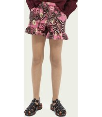 scotch & soda printed wide-fit organic cotton shorts