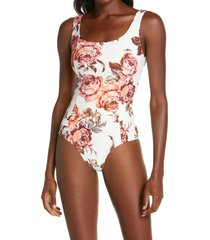maaji rose ceremony reversible one-piece swimsuit, size small in pink at nordstrom