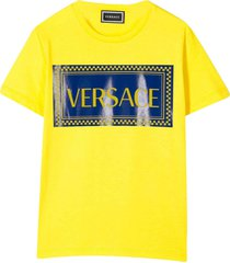 young versace yellow t-shirt with frontal press