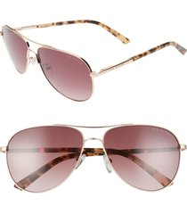 women's ted baker london 58mm tinted gradient aviator sunglasses -