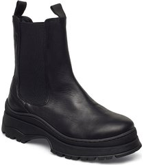 slflucy leather chelseaoot shoes chelsea boots svart selected femme