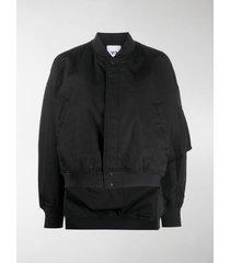 y-3 logo-print bomber jacket