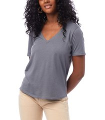 alternative apparel organic cotton v-neck women's t-shirt