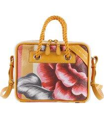 balenciaga leather blanket square satchel red, multi sz: s