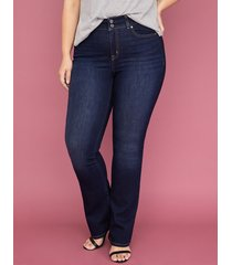 lane bryant women's tighter tummy essential stretch boot jean - dark wash 24 x short dark denim
