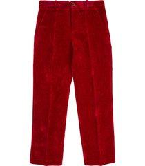 gucci bordeaux velvet trousers