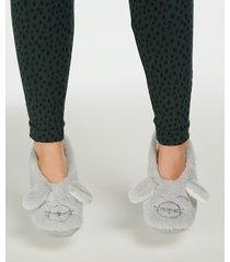 hunkemöller ballerinasockor cosy animal grå