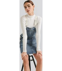 calvin klein iconics dungaree dress - blue
