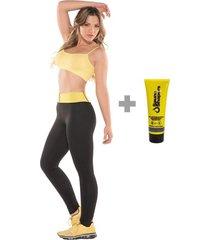 combo fajas mujer leggings sauna shapers + gel reductor 3 en 1