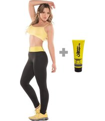 combo fajas mujer leggings sauna shapers + gel reductor 3 en 1