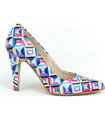 skórzane szpilki zapato 035 kolor kalejdoskop