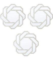 conjunto 3 royal espelhos de parede incolor