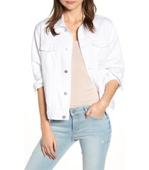 women's dl1961 clyde classic trucker jacket, size large - white