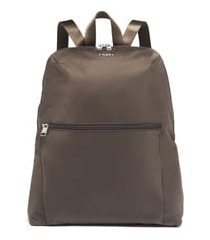 tumi voyageur - just in case nylon travel backpack - brown