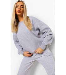 basic oversized sweater, grey marl