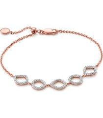 rose gold riva mini cluster diamond bracelet diamond