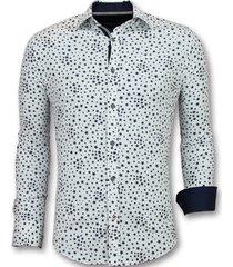 overhemd lange mouw tony backer regular fit bloemen blouse
