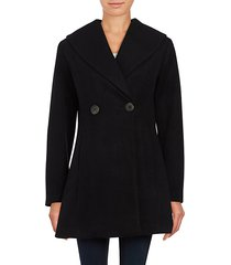 solid wool-blend coat