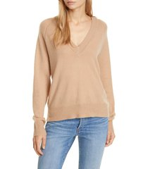 equipment madalene cashmere sweater, size large in camel at nordstrom