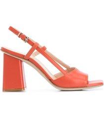 paul warmer 90mm slingback open toe sandals - orange